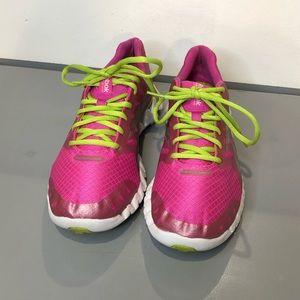 Pink Reebok Athletic Shoes